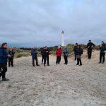 DVL vandretur 260521 Solnedgangstur fra Lyngvig Fyr. Tak for i dag efter en dejlig tur.