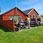 DVL vandretur 100621. Ringkøbing by og havn. Madpakker spises ved Smakkelaugets klubhus.