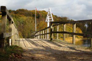Broen over Krusåen ved Skomagerhus. Vandreveje i Sønderjylland
