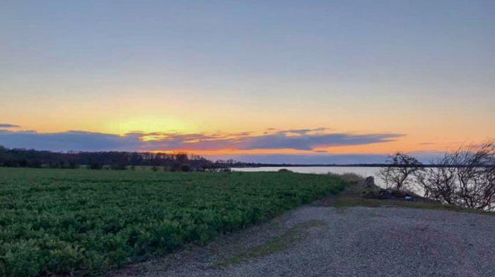 Solnedgangen ved Aarøsund