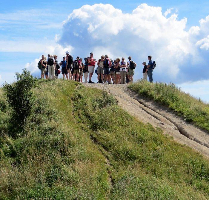 På toppen i Mols Bjerge. foto Preben Simonsen